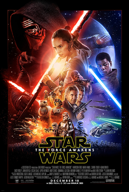 "poster ""Star Wars: The Force Awakens"""